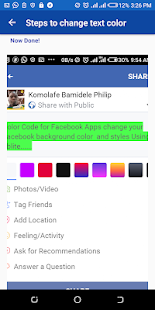 Color Code for Fblite Screenshot