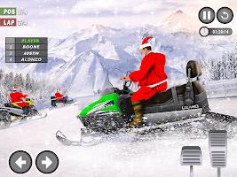 Santa Atv Snow Bike Racing 2021 : Quad Bike Race