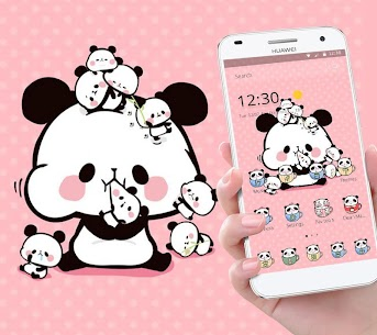 Pink Cartoon Cute Panda Theme 1.1.5 Mod APK Latest Version 1