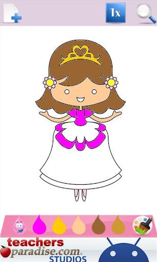 Prince & Princess Coloring Book screenshots 3