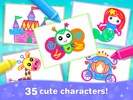 Kids Drawing Games for Girls! Apps for Toddlers!  screenshots 23