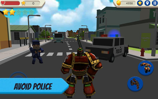 robot hero: city simulator 3d screenshot 2