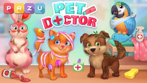 Pet Doctor - Animal care games for kids screenshots 1
