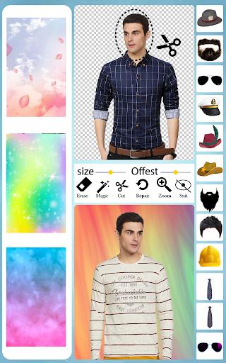 Men T-Shirt Photo Editor and Sweatshirt Dress apktram screenshots 5