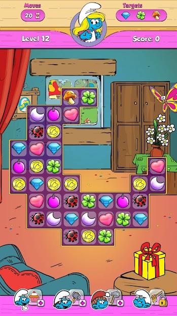 Screenshot 3 de Smurfette's Magic Match para android