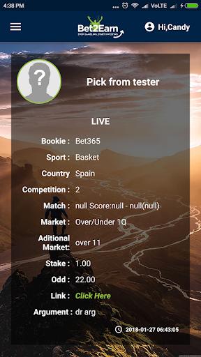 bet2earn picks screenshot 3