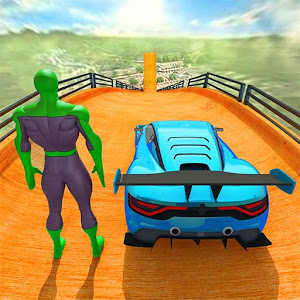 Superhero Car Games GT Racing Stunts  Game 2021
