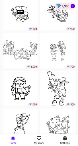 Coloring Pages for Brawl BS  screenshots 6