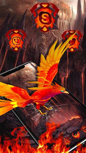 3d fire phoenix theme screenshot 1