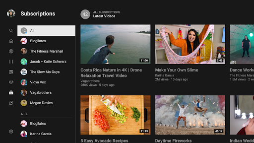 YouTube for Android TV 2.12.08 screenshots 4