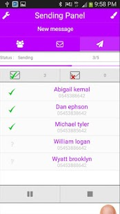 Multi SMS & Group SMS PRO Screenshot