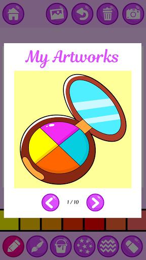 Beauty Makeup: Glitter Coloring Game for Girls 3.0 screenshots 14