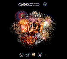 Fireworks Wallpaper Happy New Year 2021 Theme