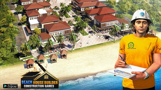 Beach House Builder Construction Games 2021 Screenshot