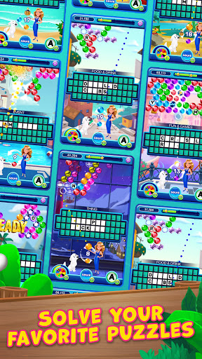 Bubble Pop: Wheel of Fortune! Puzzle Word Shooter apkpoly screenshots 4