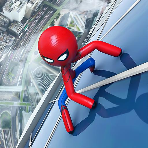 Flying Hero Stickman Rope Hero Grand Crime City