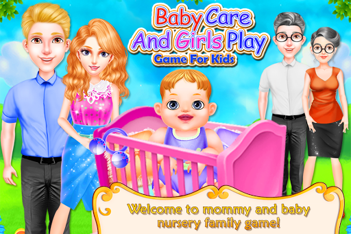 baby care and girls play nursery game for kids screenshot 1
