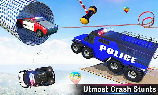 Police Car Stunts Racing: Ramp Car New Stunts Game 2.1.0 Screenshots 2
