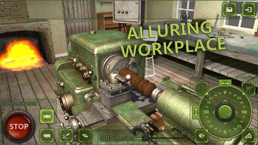 Lathe Machine 3D: Milling & Turning Simulator Game screenshots 1