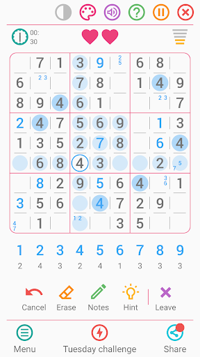 Free Sudoku Game apkpoly screenshots 2