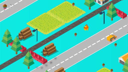 Cross Road: Cute Animals - Chicken Game 3.4 screenshots 1