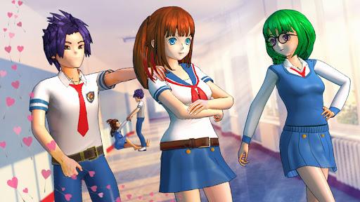 Pretty Girl Yandere Life: High School Anime Games  screenshots 1
