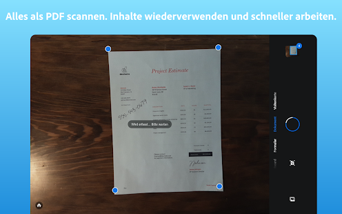 Adobe Scan: PDF scanner, PDF creator, OCR Screenshot