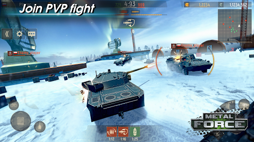 Metal Force: PvP Battle Cars and Tank Games Online  screenshots 22