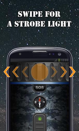 Military Flashlight Free android2mod screenshots 2