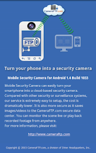 Mobile Security Camera (FTP) Screenshot