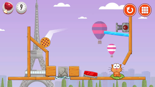 Hungry cat: physics puzzle game apkdebit screenshots 3