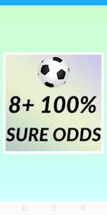 8+ 100% SURE ODDS 9.8 screenshots 1