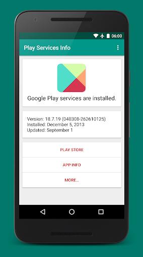 Play Services Info (Update)  screenshots 1