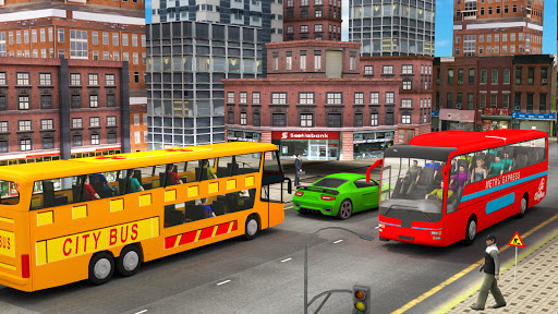 City Traffic Racer: Extreme Bus Driving games  screenshots 1