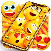 Funny smiley face emoji live wallpaper
