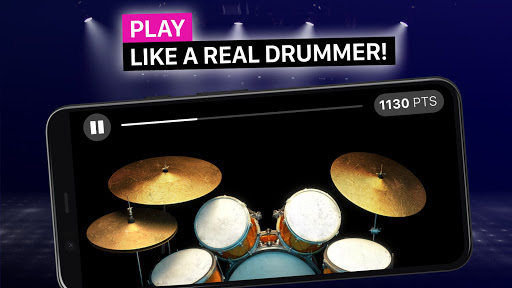 Drums: real drum set music games to play and learn apktram screenshots 3