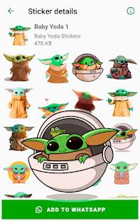 Baby Yoda Stickers for WhatsApp - WAStickerApps