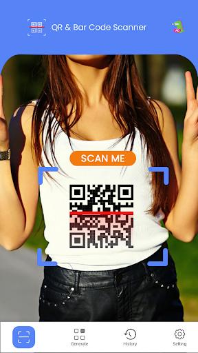QR Code Reader - Fast Scan, Barcode & QR Scanner android2mod screenshots 1