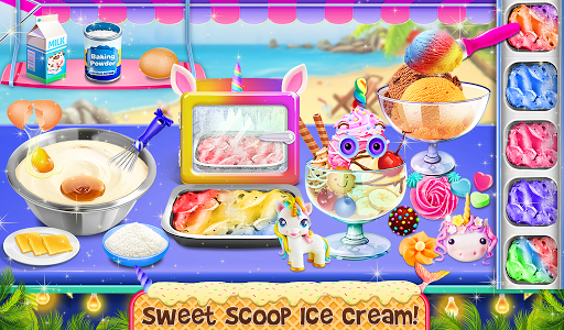 Ice Cream - Frozen Desserts Rainbow Unicorn  screenshots 10