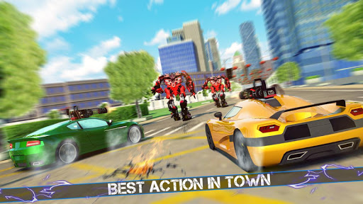 Grand Robot Car Crime Battle Simulator apktram screenshots 2