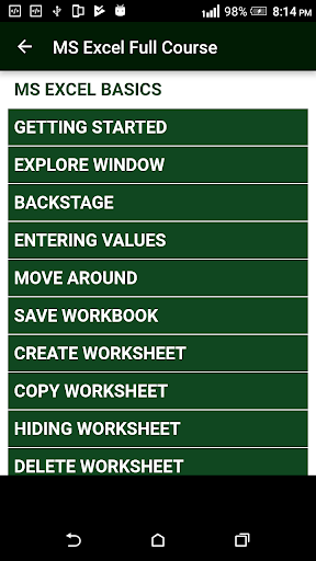 Learn MS Excel (Basic & Advance Course)  screenshots 1