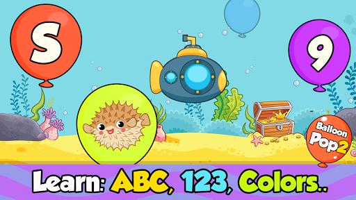 balloon pop : toddler games for preschool kids screenshot 2