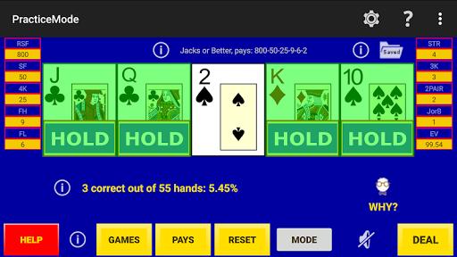 play perfect video poker lite screenshot 3