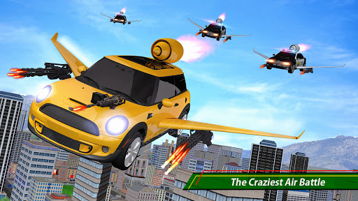 Flying car Shooting: Ultimate car Flying simulator 1.4 screenshots 1