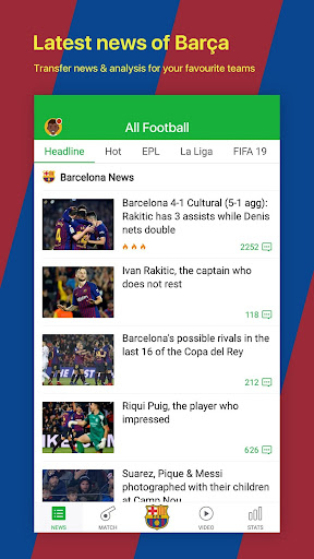 All Football - Barcelona News & Live Scores 3.1.6 BL Screenshots 1