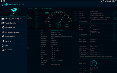 Network Signal Info Pro Screenshot
