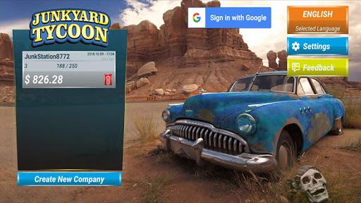 Junkyard Tycoon - Simulation d'affaires automobile APK MOD – Pièces Illimitées (Astuce) screenshots hack proof 1