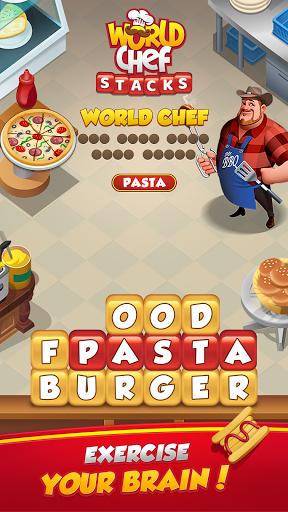 Code Triche World Chef - Word Stacks (Astuce) APK MOD screenshots 3
