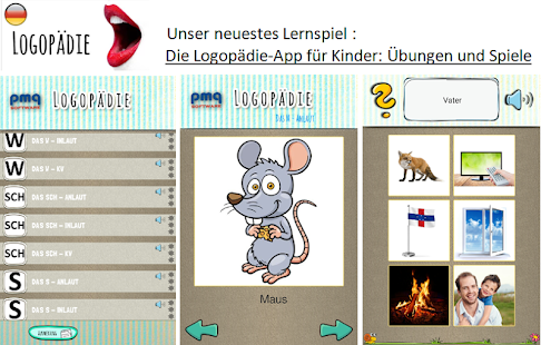Educational games for children, German