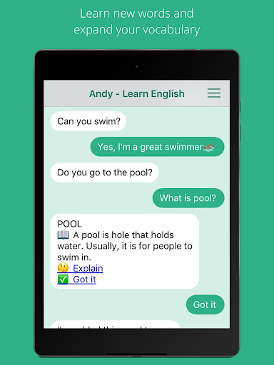 Andy - English Speaking Bot 2.8.2 Screenshots 6